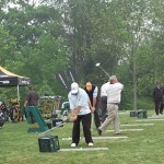 Speaker tips from golfing